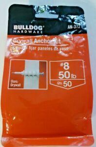 Bulldog Drywall Anchor Kit AN-372  #8 Qty 50