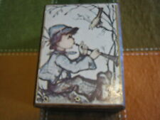 "Vintage Made In Japan Wooden Music Box By Laurel ""Love Story"" Theme Boy & Bird"