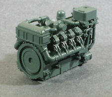 Ho Scale 1380Hp V8 Diesel Turbo Industrial Engine Model Rr Flatcar Load Green