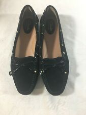Clarks Artisan Womens Black Suede Leather Oxford Lace-up Shoes Casual Career 7M