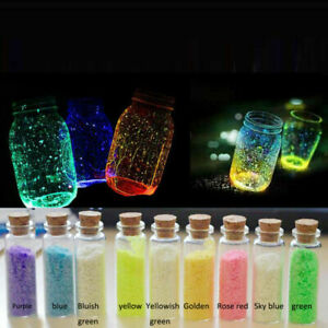 9 Colors 10g Glow in the Dark Luminous Sand Fish Tank Ornaments Aquarium B3W7