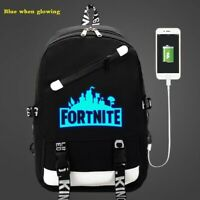 MOCHILA ESCOLAR FORTNITE LUMINOSA