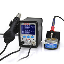 FR-YIHUA 995D LCD SMD HOT AIR REWORK STATION WITH SOLDERING STATION NEW 110V US