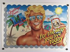 """Rare Original Hamagami 1984 La Beer """"For The Way You Live Today"""" Poster 27 x 19"""