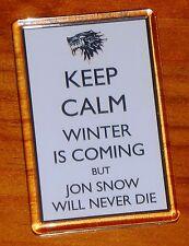 Keep calm Game of Thrones Jon Snow Stark sigil fridge magnet