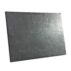 MAGNET BOARD 600x300 mm HOCHWERTIGE SCHIEFER TAFEL STEIN PINNWAND SCHWARZ