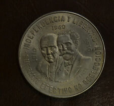 MONETA MESSICO 10 PESOS 1960 28,88 GRAMMI ARGENTO 900 SUBALPINA