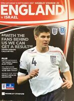 ENGLAND V ISRAEL 2007/08