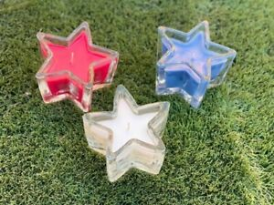 4th of July set of 3 Star Candles  Sunset Scents previous Gold Canyon jars New