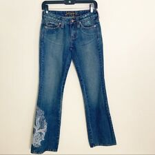 Hippie Embroidered Bootcut Jeans Size 24