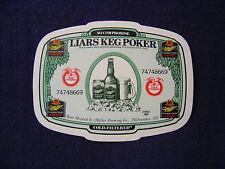 MILLER GENUINE DRAFT BEER COASTER LIARS KEG POKER GAME
