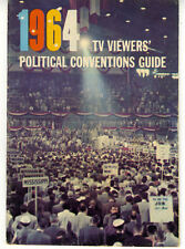 1964 TV Viewers Political Convention Guide Booklet w/ 50 pages