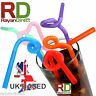 100PCS Super Extra Bendy Long Mega Drinking Straws 10.23 Coloured Party Gift