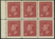 Canada   1950   Unitrade # 287b  Mint Lightly Hinged Booklet Pane - Very Fine +