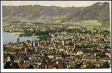 Zürich Schweiz Postkarte 1913 gelaufen Gesamtansicht vom Rigiblick gesehen