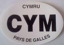 """CYM Welsh Car Sticker Cymru Pays De Galles Wales Oval 3.5"""" x 5"""""""