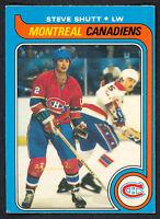 1979 80 OPC O PEE CHEE 90 STEVE SHUTT NM MONTREAL CANADIENS HOCKEY CARD