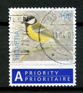 Switzerland 2006-9 SG#1673 100c Birds Definitive Used + Label #A48994