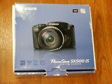 Open Box - Canon PowerShot SX500 IS 16 MP Camera - BLACK - 013803156881