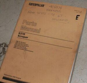 CAT Caterpillar 637E Scraper Parts Manual Book catalog list pan coal tractor OEM