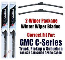 WINTER Wipers 2pk Premium 1970-1972 GMC C15 C25 C35 C1500 C2500 C3500 - 35150x2