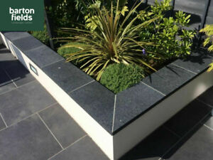 Wall Copings, Natural Black Granite Double Brick Wall Copings: 600x300x40mm