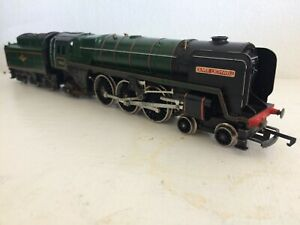 HORNBY R259 OLIVER CROMWELL PACIFIC 70013 GLOSS BR GREEN LOCO & TENDER DRIVE VGC