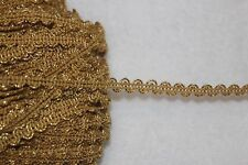 """2 yards $1 metallic gold ric rac Braid sewing doll craft gimp trim 1/4"""" wide W31"""