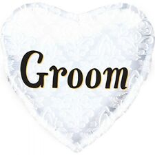 Party Supplies Wedding Engagement Groom Heart 18 Inch Foil Balloon
