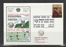 Stamp Cover 1973 Hereford Utd Vs Blackburn Rovers, Hereford promoted 1st season
