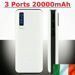 20000mAh Power Bank External Battery Charger 3 USB Ports for Samsung iPhone