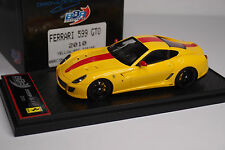 BBR FERRARI 599 GTO 2010 YELLOW / RED STRIPE 1/43