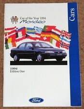 1994 FORD CARS Brochure - inc Fiesta RS1800, Mondeo Car of the Year, Escort Cab