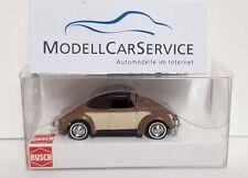 Busch 1/87 : 46718 VW Hebmüller-cabrio, Cerrado, Marrón/Beige