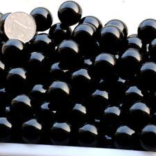1Pc Natural Black Obsidian Quartz Round Sphere Crystal Healing Point Stones 20MM