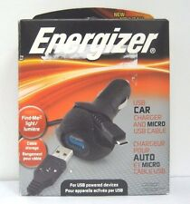 Energizer PC-1CACMC USB 5W Car Charger w/ Micro USB Cable