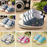 Toddler Baby Girls Soft Crib Sole Canvas Sneakers Newborn Bebe Anti-slip Shoes