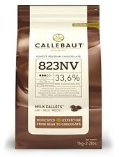Callebaut Milk Chocolate Chips 1kg easy melting, for baking, fountains, 823NV