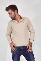 LACOSTE Polo Shirt Maglia Grigia In Cotone Cotton Con Logo TG L Uomo Man