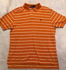 Polo By Ralph Lauren Orange White Striped Shirt Mens XL Game Day gwf