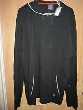 NEW POLO RALPH LAUREN Waffle Pajama Top Sleep Hooded Shirt MENS XL Black