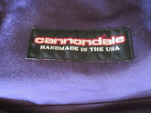 Vintage PURPLE CANNONDALE Backpack Nylon & Leather Made in USA