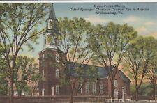 *(O)  Williamsburg, VA - Bruton Parish Church - Exterior and Grounds