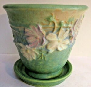 Roseville Cosmos 650-5 Flower Pot and Saucer