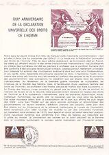Document philatélique 48-78 1er jour 1978 Déclaration des droits de l'homme