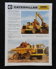1985 CATERPILLAR No. D25C ARTICULATED DUMP TRUCK CATALOG SALES BROCHURE NICE
