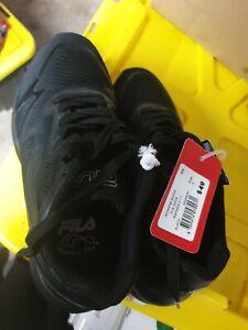 Fila Black Sneakers School Shoes Brand New Ladies Size 6