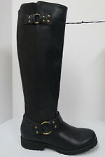 KENNETH COLE REACTION 'JENNY ROCKER' Vegan Harness Boots 6.5 Knee High Riding