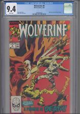 Wolverine #9  CGC 9.4 1989 Marvel Back Cover Pin-Up by Kieron Dwyer : New Frame