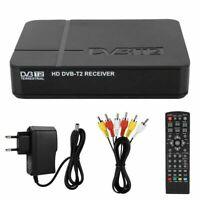 Top TV Box Digital Receiver HD 1080P DVB-T2 3D Set Freeview Recorder USB HDMI UK